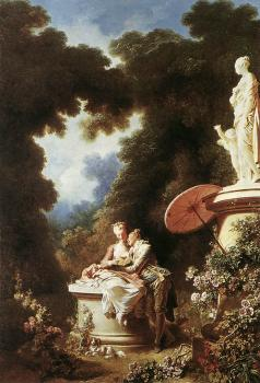 Jean-Honore Fragonard : The Confession of Love